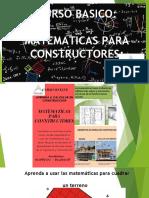 PUBLICIDAD MATEMATICA PARA CONSTRUCTORES