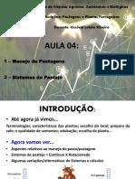AULA 04 - MANEJO DE PASTAGENS E SISTEMAS DE PASTEJO