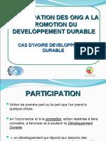 Participation des ONG à la promotion du développement durable