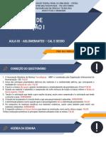 AULA 03 - MATERIAIS DE CONSTRUÇÃO I - Cal e Gesso
