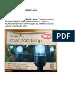Solar Powered Garden Night Lights using ana608