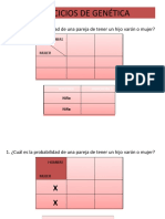 7 EJERCICIOS - CUADRO DE PUNNETT