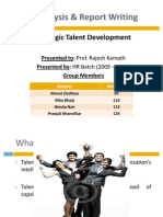 Strategic Talent Development Final