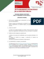 Examen 2 - DIPLOMADO DE PLANEAMIENTO ESTRATÉGICO PARA LA GESTIÓN PÚBLICA