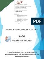 NIA 560_GRUPO 5_AUDITORIA_CONTABILIDAD VII