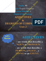 Grade 6 - Sub.  English Grammar - Lesson 1 - Unit 2 - Adjectives and Degrees of Comparison PPT