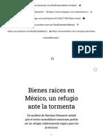 Bienes raíces en México, un refugio ante la tormenta