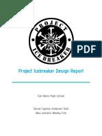 project icebreaker design report