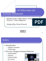 The impact of telecoms on human behavior