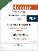 Ireo Skyon Property in Gurgaon Secctor 60 , +91 8010567567