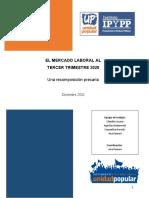 Mercado Laboral 3er Trimestre 2020