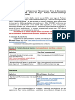Instruções para acesso à plataforma