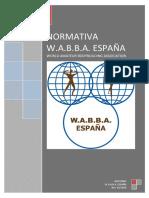 NORMATIVA W.A.B.B.A. ESPAÑA