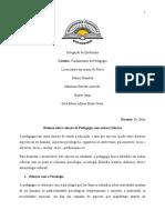 TRABALHO DE FUNDAMENTO DA PEDAGOGIA - RESUMO DAS RELACOES COM OUTRAS CIENCIAS.