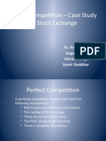 Perfect Competition  Case Study on Stock Exchange
