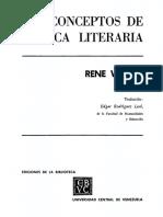 WELLEK (1962) El Concepto de Romanticismo en La Historia Literaria