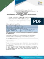 Guia de actividades y Rúbrica de evaluación Fase  1 - Reconocimiento del contexto actual del emprendimiento