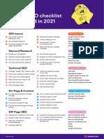 Semrush SEO Checklist 2021