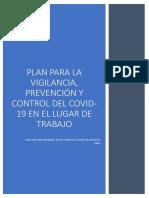 Plan para la  vigilancia, prevención y control de Covid-19 en el lugar de trabajo ITE ITALO