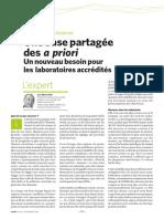 Deltamu - Publication Une base partagée des a priori Un nouveau besoin pour les laboratoires accrédités