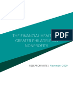 The Financial Health of Greater Philadelphia Nonprofits.
