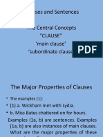 Lecture Clause and Sentence (1)