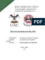 PRINCIPALES PROBLEMAS DEL PERU