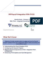 HR Payroll Integration With FI-CO