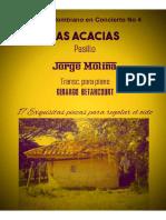 LAS ACACIAS. Pasillo. Jorge Molina. Transc. para piano Gerardo Betancourt.