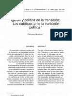 Montero, Feliciano - Iglesia y política en la transición (ETyF1999)