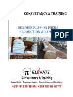Injera export project ELEVATE Consultancy & Training