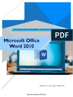 Cours Word 2010