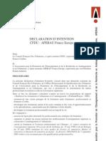 Déclaration d'intention CFDU APERAU