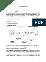 Actividad de Matemática