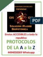 PROTOCOLOS DE LA A  A LA Z -Kaom