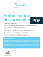 INFO-embolisation de varicoceles (veineux) juillet2018