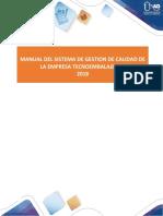 11-Estructura del Manual de Calidad-ISO9001-2015