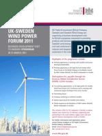 UKTI; UK-Sweden Wind Power Forum