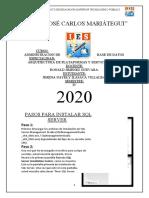 PASOS PARA INSTALAR SQL SERVER
