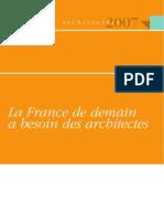 La France de demain a besoin des architectes