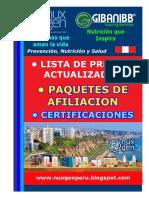 LISTA DE PRECIOS NUXGEN PERU
