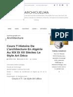 Cours 7 Histoire de l'architecture en Algérie au XIX et XX siècles_ Le style Art déco _ ArchiGuelma