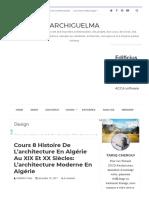 Cours 8 Histoire de l'architecture en Algérie au XIX et XX siècles_ L'architecture moderne en Algérie _ ArchiGuelma.pdf