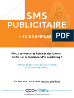EXEMPLES SMS PUBLICITAIRES