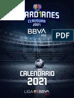 Calendario Liga Femenil Guard1anes 2021