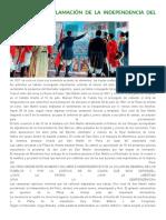 Acróstico de Independencia del Perú