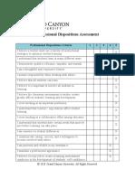 portfolio professional dispositions assessment