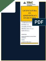 COMPARATIVO DE LA LEGISLACIÓN ESPAÑOLA CON LA LEGISLACIÓN MEXICANA