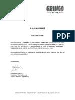 Certificacion Leonardo Perez