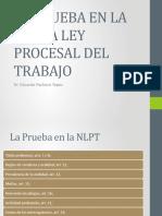 La prueba en la  nueva Ley Procesal del Trabajo